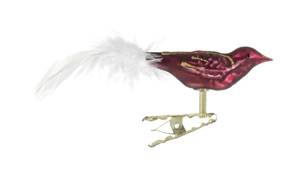 Mini Vogel Feder Glasblaserei Thuringer Weihnacht