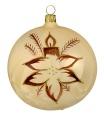 10 cm Kugel, Sortiment Blume mit Kerze, 2-fach