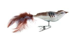Kleiner Vogel Federn Glasblaserei Thuringer Weihnacht
