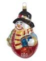 Schneemann mit Kranz und Geschenk, Einzelverpackung