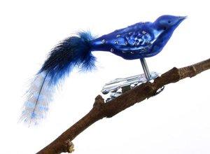 Mini Vogel Glimmerpunkte Farbige Perlhuhn Feder Glasblaserei