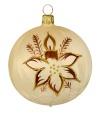 8 cm Kugel, Sortiment Blume mit Kerze, 3-fach